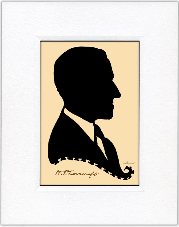 This is my silhouette cutting of H.P. Lovecraft.