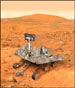 This is the largest illustration I have done so far. This painting of the Mars Rover was created for a series of large school posters promoting reading programs. I learned more than I ever wanted to about the Martian Rovers after researching the construction of these highly detailed machines. I probably just as rapidly forgot all I learned. © Published by Scott Foresman/Pearson Education.