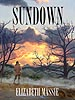 "The cover painting for ""Sundown,"" a collection of short horror fiction by Elizabeth Massie. That's Elizabeth poised on a wall overlooking the Shenandoah Valley in Virginia."